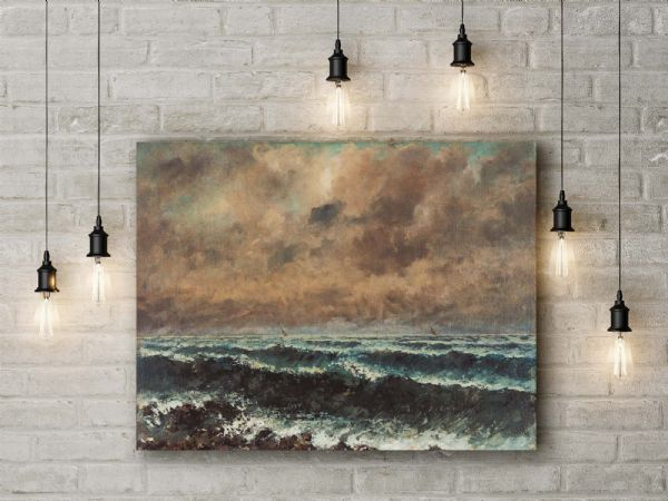 Gustave Courbet: Autumn Sea. Fine Art Canvas.